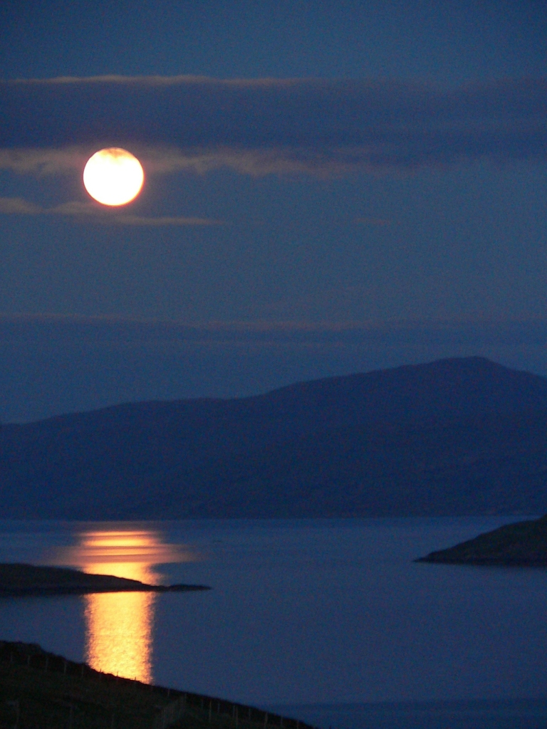 Full moon across Loch Broom