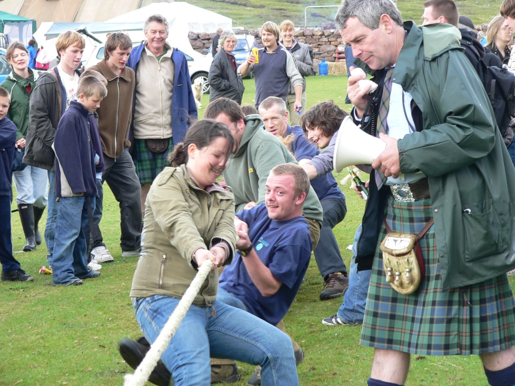 One of the many events at the Coigach Gathering - held every summer on Badentarbet green.