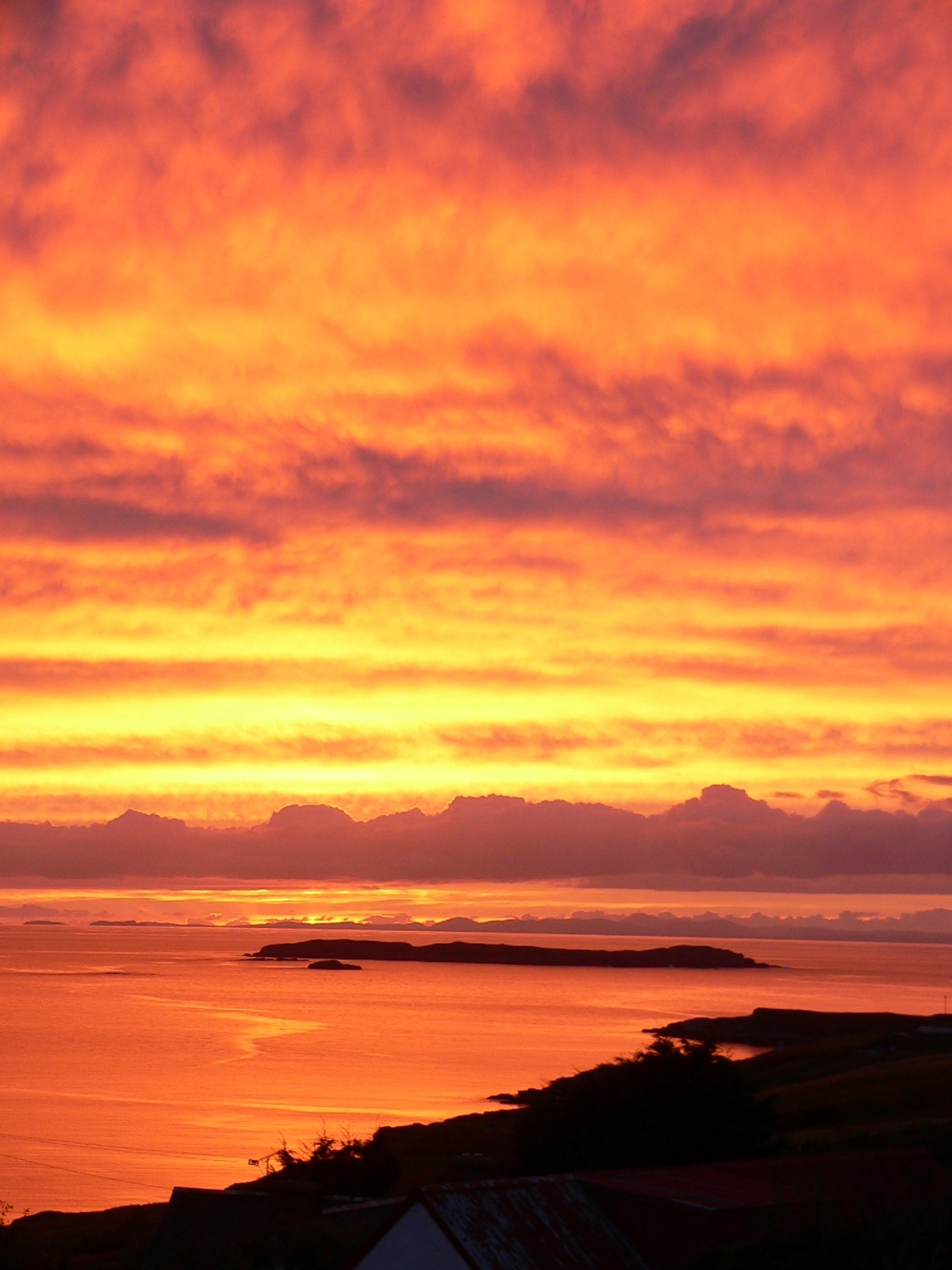 Incredible sunset, taken from Summer Isles Croft and untouched by Photoshop!