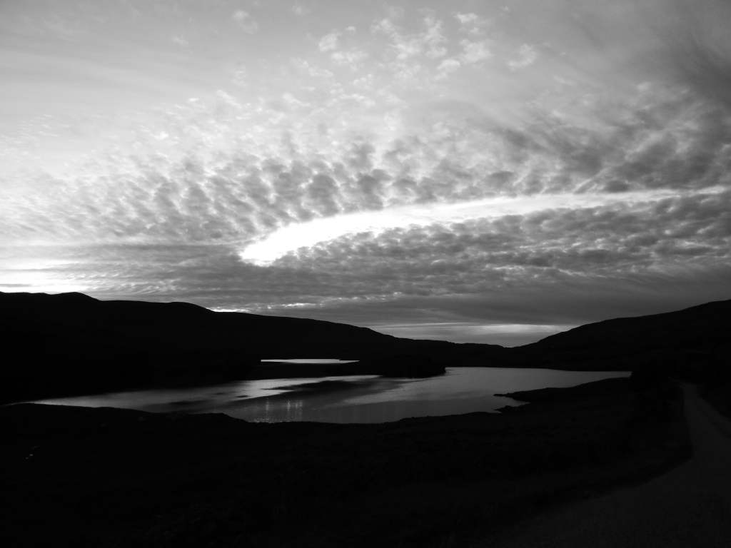 Torn sky on the road in to Coigach